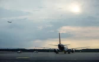 L'aeroporto di Milano Malpensa il primo giorno di trasferimento degli aerei da Milano Linate, 27 luglio 2019.  ANSA/ CLAUDIA GRECO