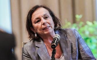 il ministro dell'Interno Luciana Lamorgese durante la riunione del Comitato provinciale per l'Ordine e la Sicurezza pubblica, Torino 09 agosto 2021 ANSA/TINO ROMANO