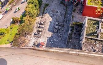 Palazzo bruciato Milano
