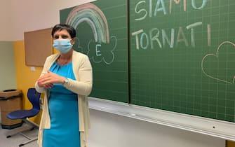 L'anno scolastico post Covid è stato inaugurato nelle scuole dell'Alto Adigea Bolzano, 7 settembre 2020. ANSA/STEfAN WALLISH