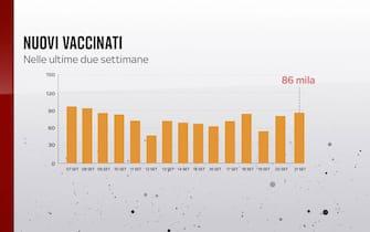 Grafiche coronavirus: i nuovi vaccinati