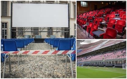 Covid, ipotesi aumento capienza in stadi, cinema e teatri