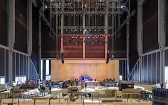 Aprirà il 5 aprile a New York The Shed, un teatro da 1250 posti a sedere e 2700 in piedi destinato a ospitare spettacoli, concerti, mostre di arti visive, installazioni multidisciplinari e un laboratorio sperimentale gratuito aperto agli artisti non ancora affermati. ANSA/UFFICIO STAMPA ++ NO SALES, EDITORIAL USE ONLY ++