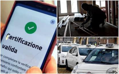 Green pass e lavoro, da idraulici a taxi: quando bisogna usarlo