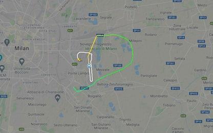 Milano, da Linate a San Donato: ecco il tracciato del volo precipitato