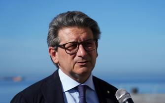 Zeno D'Agostino Presidente Autorità Sistema Portuale Mare Adriatico Orientale, Trieste 28 Settembre 2021. ANSA/MAURO ZOCCHI