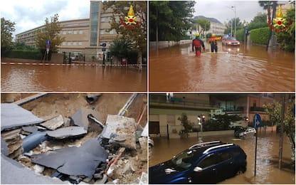 Maltempo a Palermo, strade allagate e auto bloccate. FOTO