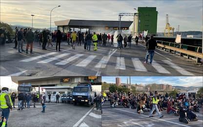 No pass: sgomberato varco 4 al porto di Trieste, continua la protesta