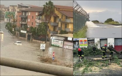 Maltempo, allerta rossa in Sicilia e Calabria: danni e disagi. FOTO