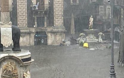 Maltempo a Catania, il PalaSpedini accoglie i senzatetto