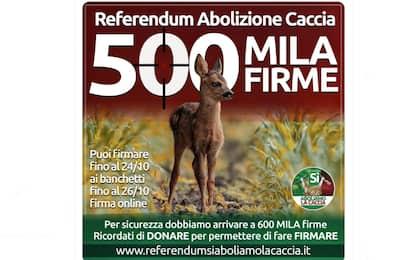 Referendum per l'abolizione della caccia: raccolte 500 mila firme