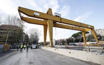 Cantieri Metro C stazione Amba Aradam, Roma 27 dicembre 2019. ANSA/GIUSEPPE LAMI