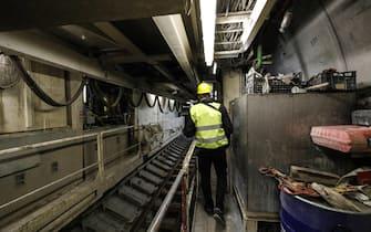 Cantiere Metro C altezza 'Foro Traiano', Roma 27 dicembre 2019. ANSA/GIUSEPPE LAMI
