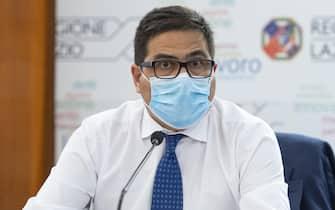L'assessore alla Sanità della Regione Lazio, Alessio D'Amato, nel corso della presentazione dei nuovi test sierologici che saranno effettuati in Regione, Roma 22 luglio 2020.     ANSA/MAURIZIO BRAMBATTI