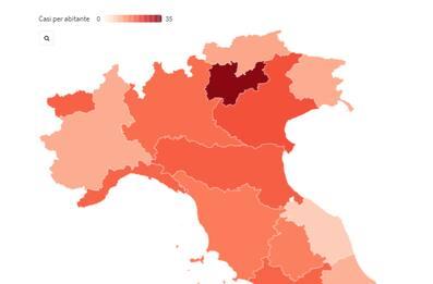 Coronavirus, la situazione in Italia: grafici e mappe