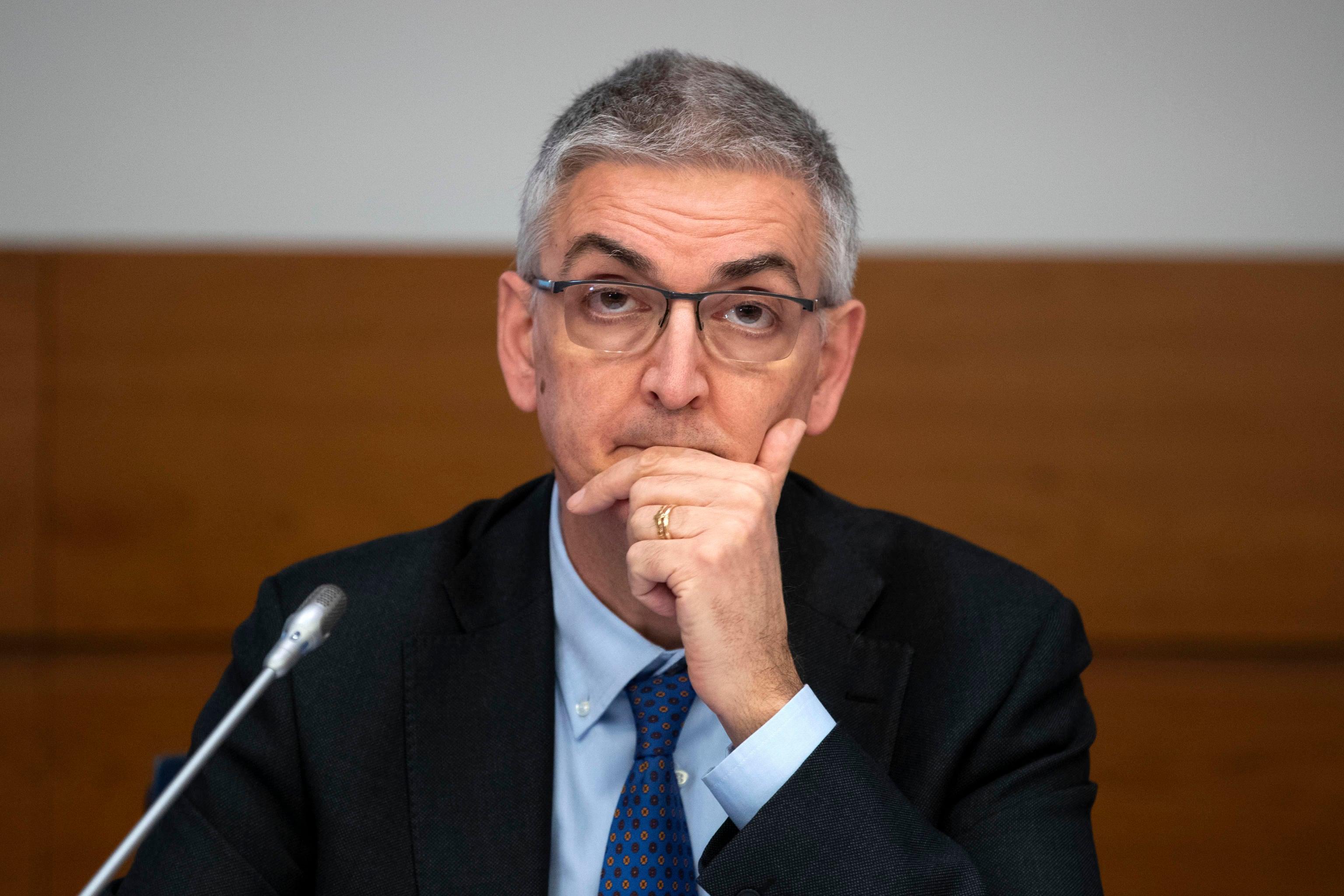 Silvio Brusaferro dell'Iss risponde ai giornalisti in conferenza stampa alla Protezione civile, Roma, 7 marzo 2020. ANSA/MASSIMO PERCOSSI