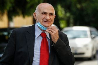 Giuseppe Ippolito, Scientific Director of the Lazzaro Spallanzani Hospital, on his arrival for the press conference to present the first data on serological tests carried out in the Lazio Region, at the Lazzaro Spallanzani Hospital, Rome, Italy, 20 May 2020. ANSA / FABIO FRUSTACI