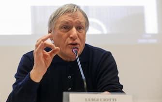 Don Luigi Ciotti, direttore editoriale, durante la presentazione della nuova rivista ''La  Via Libera'', Roma 28 gennaio 2020. ANSA/FABIO FRUSTACI