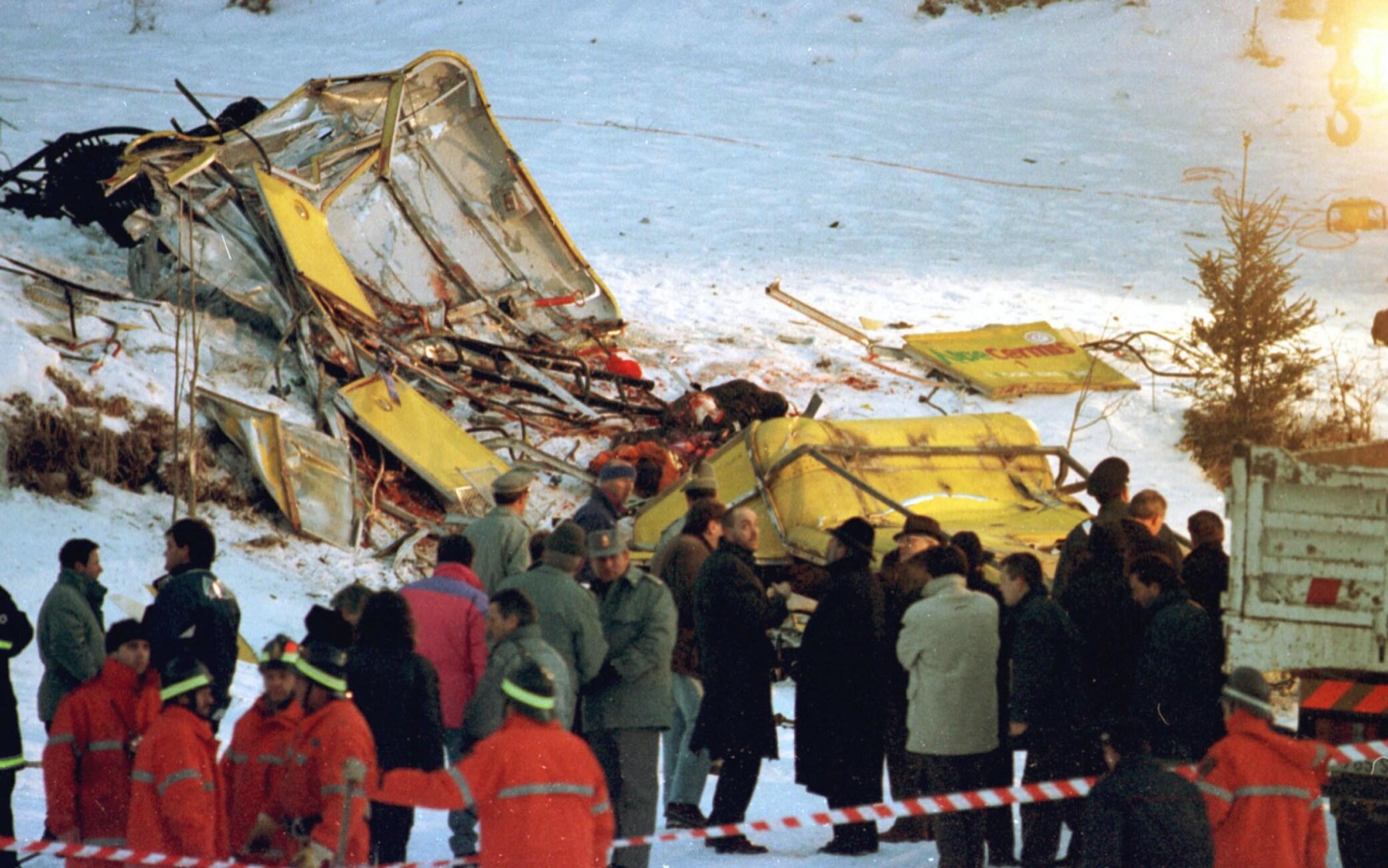 L'incidente alla funivia del Cermis del 1998