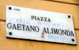 GENOVA - PIAZZA ALIMONDA - COMMEMORAZIONE CARLO GIULIANI A CINQUE ANNI DALLA SCOMPARSA