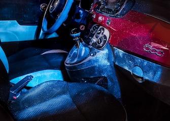 Car sharing interior,  Chinatown