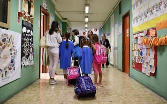 Primo giorno di scuola nella scuola Peyron di Via Ventimiglia a Torino, 10 settembre 2018 ANSA/ ALESSANDRO DI MARCO