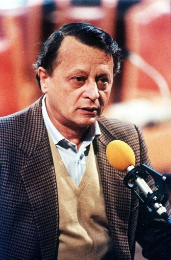 Stefano Delle Chiaie in aula durante un processo a Bologna.   ANSA