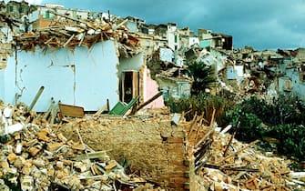 Una foto del terremoto in Irpinia , 1980 ANSA