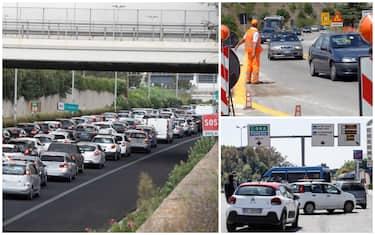 Traffico in autostrada per lavori