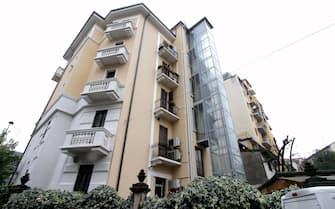 Una veduta esterna del palazzo di via Murillo 10 dove è stata eseguita una riqualificazione energetica, nell'ambito dell'inaugurazione del condominio che ha beneficiato dell'ecobonus, Milano, 15 ottobre 2019.ANSA/ PAOLO SALMOIRAGO