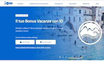La pagina del Bonus vacanze con App IO, da cui si accede con SPID