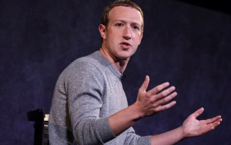 NEW YORK, NY - OCTOBER 25: Facebook CEO Mark Zuckerberg speaks about the new Facebook News feature at the Paley Center For Media on October 25, 2019 in New York City. Facebook News, which will appear in a new dedicated section on the Facebook app, will offer stories from a mix of publications, including The New York Times, The Wall Street Journal and The Washington Post, as well as other digital-only outlets.(Photo by Drew Angerer/Getty Images)