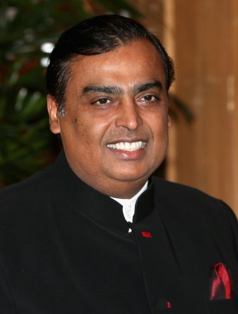 MUMBAI, INDIA - NOVEMBER 09:  Mukesh Ambani at the British Asian Trust Reception on day 4 of an official visit to India on November 9, 2013 in Mumbai, India. This will be the Royal couple's third official visit to India together and their most extensive yet, which will see them spending nine days in India and afterwards visiting Sri Lanka in order to attend the 2013 Commonwealth Heads of Government Meeting.  (Photo by Chris Jackson/Getty Images)