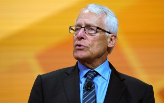 FAYETTEVILLE, AR - JUNE 1: Rob Walton speaks during the annual Walmart shareholders meeting event on June 1, 2018 in Fayetteville, Arkansas. The shareholders week brings thousands of shareholders and associates from around the world to meet at the company's  global headquarters. (Photo by Rick T. Wilking/Getty Images)