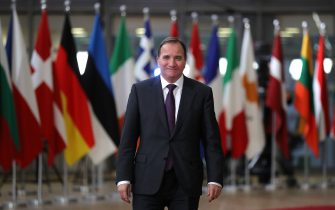 BRUSSELS, BELGIUM - DECEMBER 14:   Prime Minister of Stefan Lofven arrives for the European Union leaders summit at the European Council on December 14, 2017 in Brussels, Belgium. The European Council summit is meeting for two days to discuss issues related to Brexit, defence, education, immigration and foreign policy. (Photo by Dan Kitwood/Getty Images)