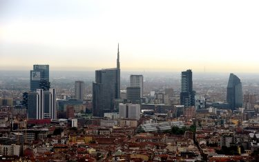 MILAN, ITALY - JUNE 08:  A panoramic view of the skyline of Milan during the flag placement ceremony at Generali tower designed by Zaha Hadid  on June 8, 2016 in Milan, Italy. The new Generali Tower designed by Zaha Hadid will be the new headquarters of Generali Assicurazioni Group; Generali Assicurazioni insurance company was founded in 1831 in Trieste and is a key player in continental Europe, with a significant presence in all the main countries.  (Photo by Pier Marco Tacca/Getty Images)