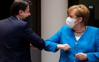 Giuseppe Conte, Angela Merkel