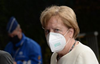 Germany's Chancellor Angela Merkel departs from a meeting at the EU summit, amid the coronavirus pandemic (COVID-19) in Brussels, Belgium on July 20, 2020. - Leaders from 27 European Union nations met throughout the night of July 19 to assess an overall budget and recovery package spread over seven years estimated at some 1.75 trillion to 1.85 trillion euros. The summit will continue into it's fourth day on Monday. (Photo by JOHANNA GERON / POOL / AFP) (Photo by JOHANNA GERON/POOL/AFP via Getty Images)