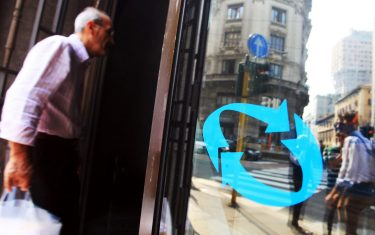 SEDE CENTRALE DELL'INPS, IN PIAZZA MISSORI ( ISTITUTO NAZIONALE DELLA PREVIDENZA SOCIALE ) (Enrico Brandi / Fotogramma/Fotogramma, MILANO - 2011-09-24) p.s. la foto e' utilizzabile nel rispetto del contesto in cui e' stata scattata, e senza intento diffamatorio del decoro delle persone rappresentate