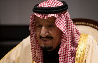 SHARM EL SHEIKH, EGYPT - FEBRUARY 24: King Salman bin Abdulaziz Al Saud of Saudi Arabia during talks with UK Prime Minister Theresa May while they attend the first Arab-European Summit on February 24, 2019 in Sharm El Sheikh, Egypt. Leaders from European and Arab nations are meeting for the two-day summit to discuss topics including security, trade and migration. (Photo by Dan Kitwood/Getty Images)
