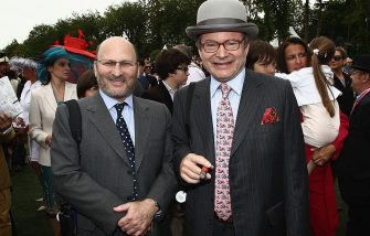 CHANTILLY, FRANCE - JUNE 12:  Alain Wertheimer (R) and his brother Gerard Wertheimer attend the Prix de Diane Longines at Hippodrome de Chantilly on June 12, 2011 in Chantilly, France.  (Photo by Julien Hekimian/WireImage)