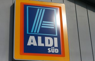 RUESSELSHEIM, GERMANY - APRIL 8:   A sign hangs on an Aldi store on April 8, 2013 in Ruesselsheim near Frankfurt, Germany. Aldi, which today is among the worldâ  s most successful discount grocery store chains, will soon mark its 100th anniversary and traces its history back to Karl Albrecht, who began selling baked goods in Essen on April 10, 1913 and founded the Aldi name by shortening the phrase Albrecht Discount. His sons Karl Jr. and Theo expanded the chain dramatically, creating 300 stores by 1960 divided between northern and southern Germany, with Aldi Nord and Aldi Sued, respectively. Today the two chains have approximately 4,300 stores nationwide and have also expanded into other countries across Europe and the USA. Aldi Nord operates in the USA under the name Trader Joeâ  s. (Photo by Ralph Orlowski/Getty Images)
