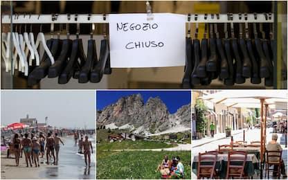 Consumi: bene ristoranti mare e montagna, soffrono città arte e negozi