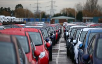 DAGENHAM, ENGLAND - JANUARY 13:  Cars are prepared for distribution at a Ford factory on January 13, 2015 in Dagenham, England. Originally opened in 1931, the Ford factory has unveiled a state of the art GBP475 million production line that will start manufacturing the new low-emission, Ford diesel engines from this November this will generate more than 300 new jobs, Ford currently employs around 3000 at the plant in Dagenham.  (Photo by Carl Court/Getty Images)