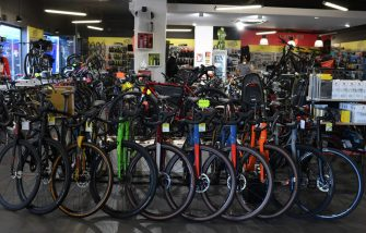 SAINT GERMAIN EN LAYE, FRANCE - MAY 13: Bicycles are seen on display in a bike shop on May 13, 2020 in Saint Germain en Laye, France. The Coronavirus (COVID-19) pandemic has spread to many countries across the world, claiming over 246,000 lives and infecting over 3.5 million people. (Photo by Pascal Le Segretain/Getty Images)
