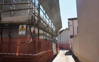 I lavori di ricostruzione a Onna (L'Aquila), 23 marzo 2019. ANSA/ ENRICA DI BATTISTA