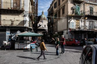 PALERMO, ITALY - NOVEMBER 21: People stroll in the area of the popular Ballaro market on November 21, 2019 in Palermo, Italy. (Photo by Emanuele Cremaschi/Getty Images)