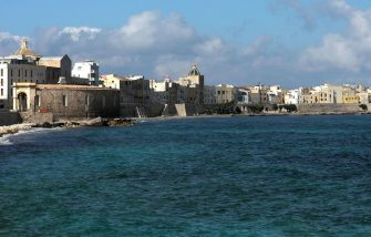 SICILY,ITALY - JUNE 07: A view of Trapani on June 08, 2018 in Trapani, Italy. Trapani is a city and comune on the west coast of Sicily. Founded by Elymians, the city is still an important fishing port and the main gateway to the nearby Egadi Islands. (Photo by  Franco Origlia/Getty Images)