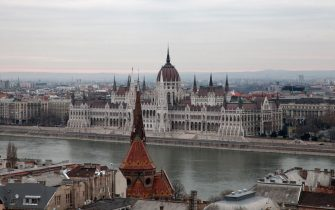 The Hungarian Parliament Building on the Pest side of the River Danube in Budapest, Hungary, 11th December 2011.  (Photo by Amy T. Zielinski/Getty Images)