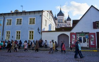 TALLINN, ESTONIA - OCTOBER 14: Alexander Newski Cathedral in the old town in the city centre on October 14, 2019 in Tallinn, Estonia. (Photo by EyesWideOpen/Getty Images)